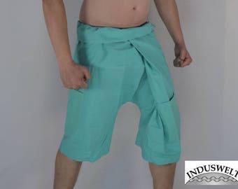 Short Thai Fisherman Pants Wrap Pants Sea