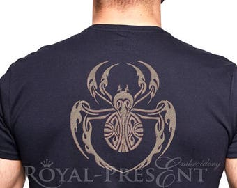 Machine Embroidery Design The stylized spider - 4 sizes