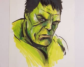 Incredible Hulk original artwork