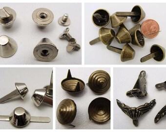Pieds métal pour sacs dessous de boite mercerie cartonnage DIY loisirs créatifs