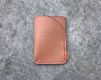 Trifold wallet in natural leather