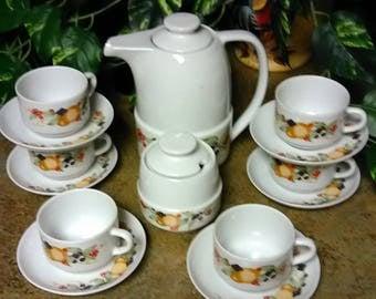 Vintage Brazil Pozzani Porcelana Teapot Set