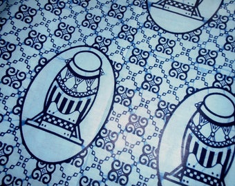 Hitarget Wax Print from Africa with Drums and Adinkra Symbols