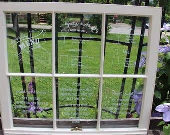 Wedding Window Pane Sign - LOCAL BALTIMORE RENTAL