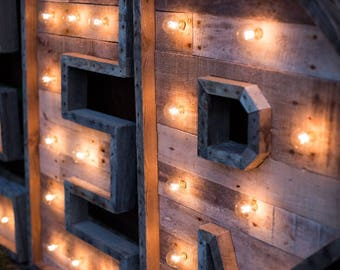 36  Lighted Marquee Letter   Large Lighted Letters   Rustic Marquee   Letters With Lights & Wedding lighting   Etsy azcodes.com