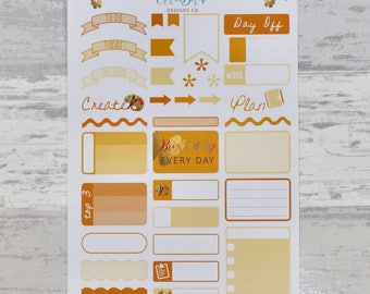 ORANGE/ YELLOW Weekly Sampler Set - Stickers for Planners!