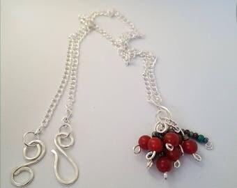 Carnelian Cluster Necklace