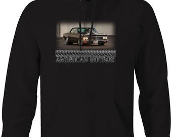 American Hotrod 1966 SS Racing Chevrolet Chevy Coupe Hooded Sweatshirt- 5096