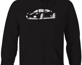 Porsche German Racing Legend 911 Carrera Hooded Sweatshirt- U158