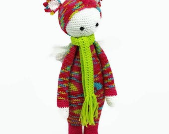 Lalylala dragon doll - Lalylala Dinosaur Doll - Stuffed Crochet Dragon - Stuffed Crochet Dinosaur - Crochet Doll-amigurumi Doll