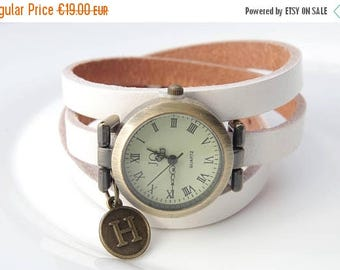 Sale Personalized watches Girls Watch Leather watch Monogrammed watch Women wrist watch Italian Charm Watch Personalised Anniversary Gift fo