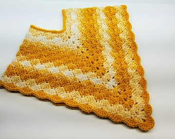 Crochet Poncho Lil Golden Gal Toddler Poncho Crochet Pattern DIGITAL DOWNLOAD ONLY