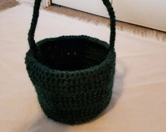Hunter Green with Black Bottom Basket Set