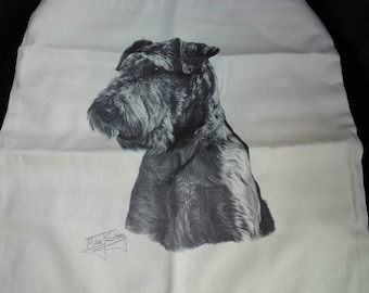 Airedale cushion cover