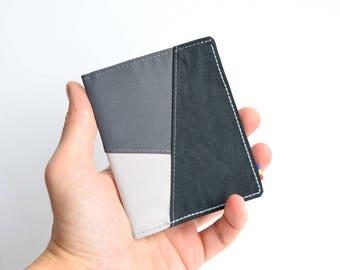 Minimalist gray wallet, Bifold wallet, Vegan wallet, Mens wallet, Womens wallet, Mens bifold wallet, Slim wallet, Slim vegan wallet