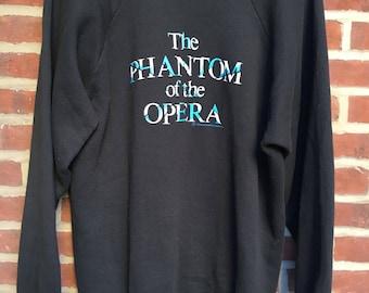 Vintage Phantom of the Opera raglan crewneck sweatshirt 1986