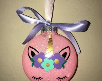Unicorn Glitter ornament