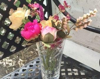 CIJ Sale Crystal Flower Vase - Gorgeous Art Deco Style Vase, Table Centerpiece, Vintage Glass Vase