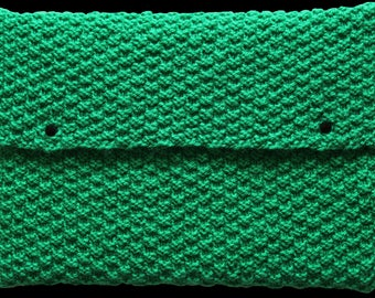 laptop case , case , knitted  , green , 13 inches