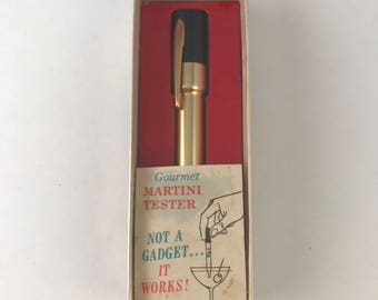 Martini Tester, Vintage Barware, Pocket Martini tester, Party Trick, Vintage Drinkware accessory, Gourmet Martini Tester, Mid Mod Barware