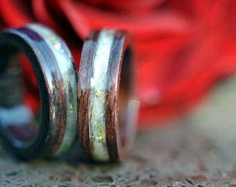 mens wood ring etsy - Wood Wedding Rings For Men