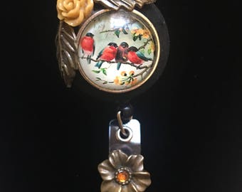 Vintage Red Robin-Nurse Retractable ID Badge Reel/ RN Badge Holder/Doctor Badge Reel/Nurse Badge Holder/Nursing Student Gifts