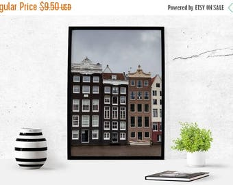 SALE Canal Houses Amsterdam Printable Photography Instant Download Photography Download Amsterdam Art Travel Architecture Photography Decor