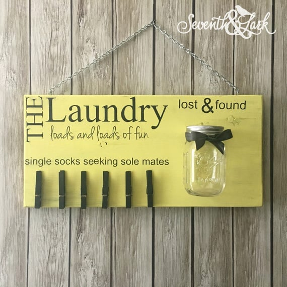 Laundry Room Sock Sign Laundry Room Decor Laundry Sign Lost Socks Lost And