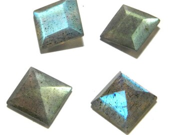 25-P Wholesale Lot Of  Blue Flashy Labradorite Square Cut faceted Loose Gemstone with free shipping