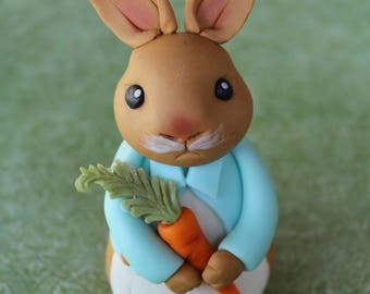 Beatrix Potter Peter Rabbit Cake Topper (Rabbit topper only; cake and other decor not included)