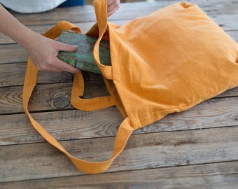 Linen hobo bag, Cross body bag, Market bag, Linen tote bag, Shoulder tote, Natural linen bag, Washed linen, Reusable Bag