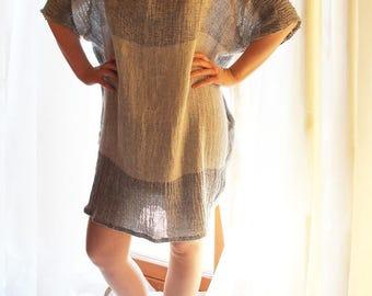 Women's clothing / linen women tunic / linen dress T5