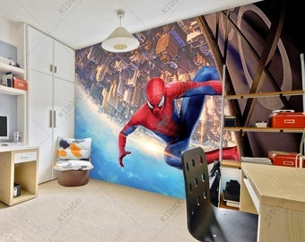 Spiderman Mural #6, Superhero Wallpaper, Spider Man Wall Décor, Wall Decal