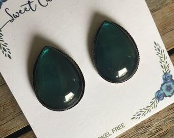 CLEARANCE Teardrop Stud Earrings