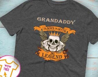 Grandaddy Man Myth Legend, Grandaddy Shirt, Grandaddy Tshirt, Father's Day Gift, Gift for Grandaddy,Shirt for Grandaddy, Grandaddy Christmas