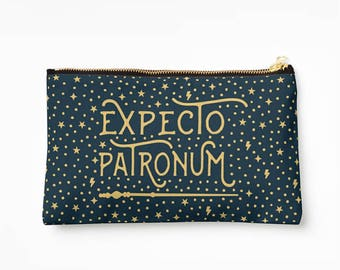 Expecto Patronum Bag - Hogwarts Pencil Case, Harry Potter Pencil Case // Makeup Pouch Bag // School Accessories // Stationery