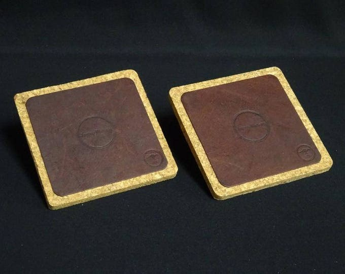 James Coaster - Brandy Tan - Set of 2 - Handmade using genuine kangaroo leather