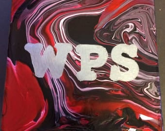 WPS 6 by 6 abstract block canvas