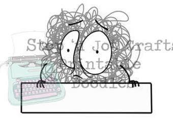 Anxiety Buddy Nameplate Printable Clip Art
