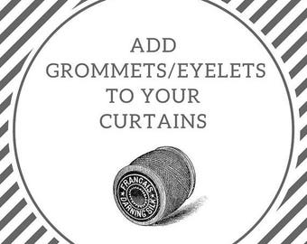 SALE Add grommets to your curtains | Grommet curtains | Eyelet curtains