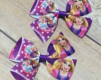 Rapunzel Hair Clip, Tangled Hair Clip, Rapunzel Pigtails, Rapunzel Bow