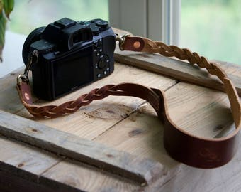 Camera Strap, Leather Camera Strap, Handmade Camera Strap, Horween Leather