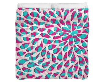 Floral Petals Pattern Duvet Cover / Comforter