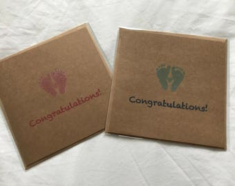 Two Congratulations New Baby Cards