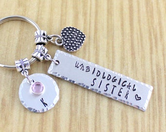 Personalized Unbiological Sister Keychain || Best Friend Keychain || Like A Sister Gift Ideas || Sisterhood Gift || BFF Gift || SRA ZADS 297