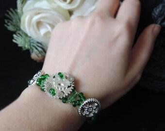 """""""Serpentine's gift"""" steampunk bracelet"""
