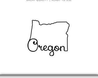 Oregon State Outline Graphic - Cut Files Included - Oregon DXF - Oregon SVG - Digital Download | 7 Formats Ready to Use!