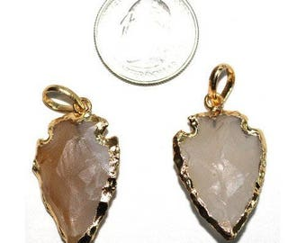 ARROWHEAD WHITE AGATE gold sngl