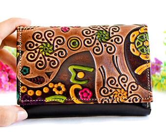 Clutch Wallet, Women Wallet, Small Wallet Woman, Cute Wallets, Fabric Wallet, Small Wallet, Credit Card Wallet embossed c
