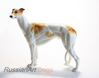 Greyhound dog  figurine ceramics, statue porcelain